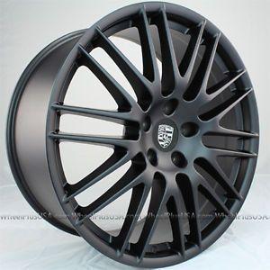 "22"" Porsche Cayenne RS Style Wheels Rims 4 New Matte Black 22x10 5x130"