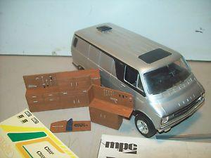MPC Dodge Van Built Model Kit Parts