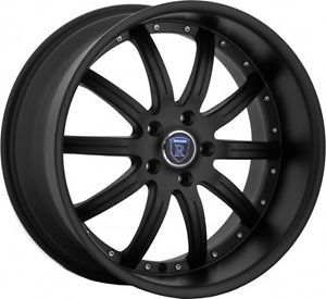 "20"" Rohana RL10 Matte Black Low Offset Wheels Rims Fit Nissan 370Z 350Z Nismo"