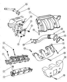 Intake Manifold Gasket Chrysler Dodge Plymouth Jeep Mopar 05083142AA