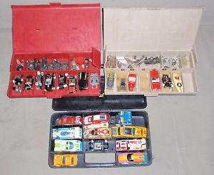 Big Lot Vintage Slot Cars AFX Aurora Tyco Camaro Porsche Bodies Chassis Parts