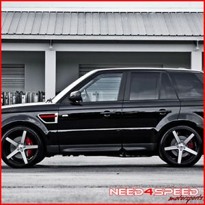 """22"""" Land Rover Range Rover HSE 22x10 5 Concave Machined Wheels Rims"""