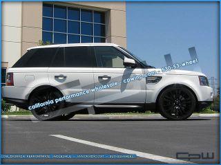 "Range Rover Sport LR3 LR4 Matte Black 22"" Wheels Rims Tires Package New"