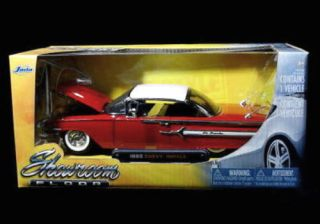 1960 Chevy Impala Jada Showroom Floor Diecast 1 24 Scale Red White