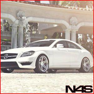 "20"" Mercedes Benz CL550 CL600 CL63 Vertini Monaco Concave Silver Wheels Rims"