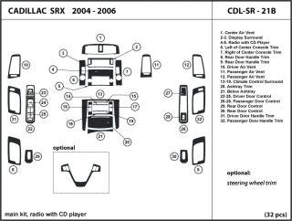 Cadillac SRX 04 06 Radio with CD Player Wood Dash Trim Kit Tuning Dashboard