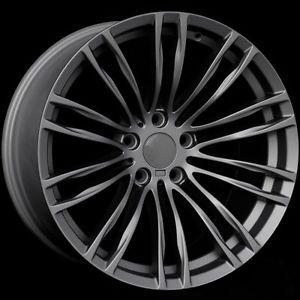 "19"" M5 Style Staggered Matte Gunmetal Wheels Rims Fit BMW E38 7 Series 1995 2001"