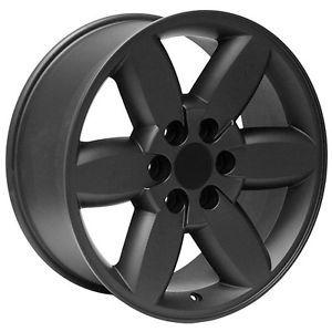 "20"" inch GMC Truck Yukon Denali Sierra Black Wheels Rims"