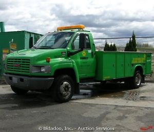2007 GMC C5500 Utility Box Service Truck 6 6 Duramax Diesel Allison Parts Repair