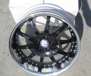"20"" Radenergie V10 Wheels Mercedes Benz SL CL CLS 20"" Staggered 3 Piece Rims"