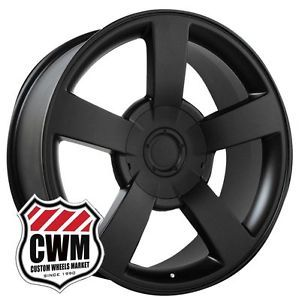 "22x10"" Chevy Silverado SS Style Matte Black Wheels Rims for Chevy Suburban 2012"