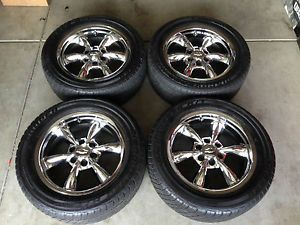 "4 Factory 20"" Chevy Chrome Alloy Wheels Tires 6 Lug Rims Silverado Tahoe"