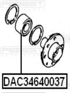 Front Wheel Bearing 34x64x37 Opel Vectra A 1988 1995 328100
