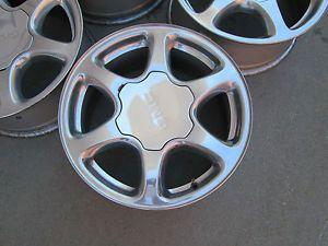 "17"" GMC Yukon Denali Chevy Silverado Alalanch 1500 Factory Polished Wheels Rims"