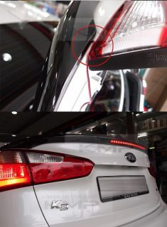 Rear Trunk LED Lip Spoiler Painted for Kia 2013 2014 Forte Cerato K3