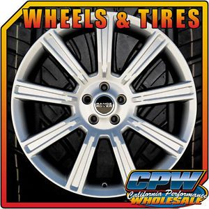 """New Set of 4 20"""" Range Rover Evoque Wheels Rims Tires Package Hyper Silver Land"""