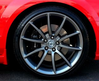 2005 2014 Ford Mustang Gunmetal Black Mamba Wheels Rims 20x9 20x10 Staggered