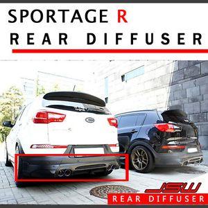 Rear Tuning Lip Bumper Unpainted Diffuser for 11 12 Kia Sportage R