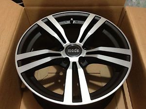 Moda MD16 17x8 5x112 45mm Wheels Machined with Black Accent VW Audi