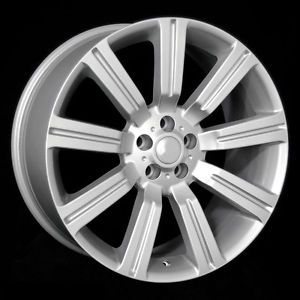 """22"""" Silver Land Rover """"Stormer"""" Wheels Rims Fit Land Rover LR3 Discovery 2002"""