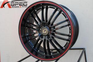 18x8 G Line G820 Wheel 5x120 38 Black Red Line Rim Fits BMW Z3 Z4 323 325 328