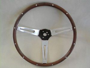 Vtg Wooden Steering Wheel Muscle Car Truck Original Spoke Ford Chevy Pontiac