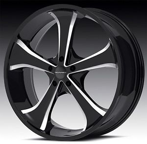 22 inch KMC Sync KM680 Black Wheels Rims 6x5 5 6x139 7 SLX Escalade Avalanche