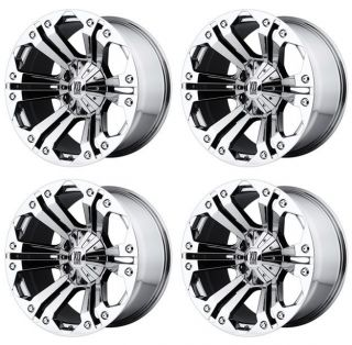 KMC XD778 Monster XD77822180244N Rims Set of 4 22x11 44mm Offset 8x6 5 Chrome