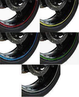 Kit Sticker Strips Decal Racing Reflective Wheels Rims Moto Bike MTB BMX Road