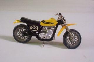 Yamaha 400 MX Dirt Bike Ridge Riders Zee Toys 1 24 Motorcycle Loose Yellow