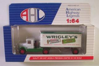 Mack BM Semi Truck Cab Trailer Wrigleys Gum 1 64 AHL Hartoy Spearmint Doublemint