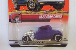 1933 Ford Coupe Hot Rod 20 Matchbox 2000 Logo Chase Tampo Car Vtg