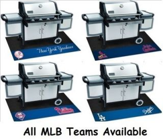 MLB Vinyl Grill Mat for Stone Patios Wooden Decks Tailgating BBQ Pool Party New