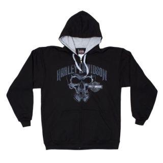 Harley Davidson Skull Hoodie Black