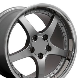 "18"" Rims Fit Corvette C5 Deep Gunmetal Wheel 18 x 10 5"