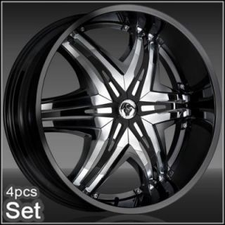 "26"" Diablo Wheels Rims for for Chevy Ford Dodge RAM Rim Tahoe F150 Expedition"