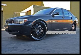 """22"""" Staggered D1 Black for BMW Wheels and Tires Rims 5 6 7 Series 645 650 745"""