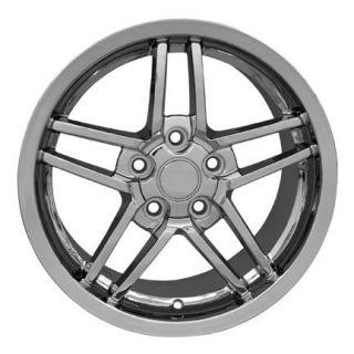 "18"" Chrome Rims Fit Camaro Corvette C6 Z06 Deep Dish Wheels"