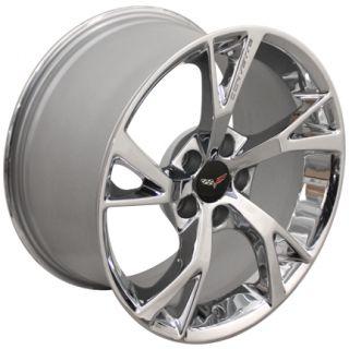 "19"" Chrome Corvette Grand Sport ""Y"" Spoke Wheels Fits Chevrolet"