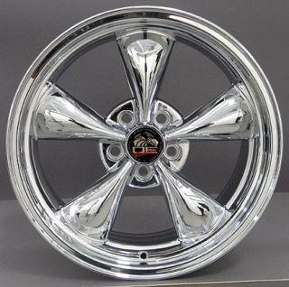 """18"""" Chrome Bullitt Bullet Bullet Wheels Rims Fit Mustang® GT"""