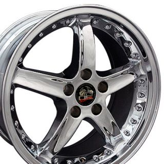 18 x10 Chrome Cobra Style Wheels Rims Fit 1994 1995 Mustang® GT