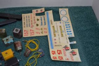 Vintage 1 24 Scale Slot Car Parts Lot Tires Gears Springs Motor Parts