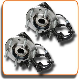 Chevy GMC Isuzu Olds Front ABS Wheel Hub and Bearings Left Right Pair Set of 2