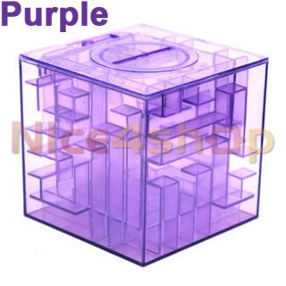 New Money Maze Bank Saving Coin Gift Box 3D Puzzle Game 5 Colors for Option