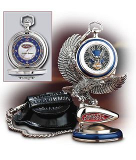 H D Heritage Springer Classic Pocket Watch with Stand