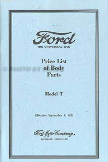 Ford Model T Parts Book Set 1915 1916 1917 1918 1919 1920 1921