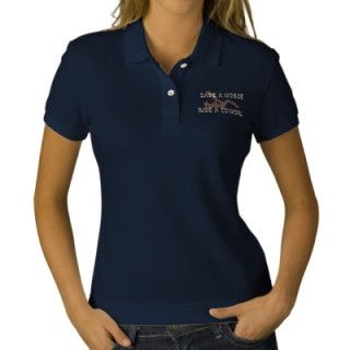 Save A HorseRide A Cowgirl! Embroidered Polo Shirt