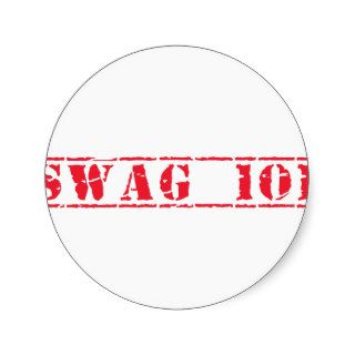 SWAG 101 ROUND STICKERS