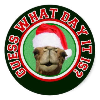 Hump Day Camel Guess What Day It Is Christmas Stickers