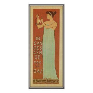 L'Incandescence par le Gaz, Paris, 1896 Posters